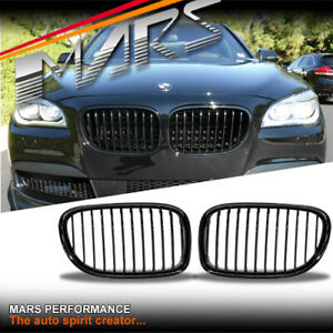 Gloss Black Front Kidney Grille Grill For Bmw 7 Series F01 F02 F03 F04 Ebay