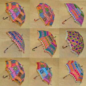 Wholesale Lot of 10 PC Traditional Indian Designer Handmade Sun Umbrella Parasol