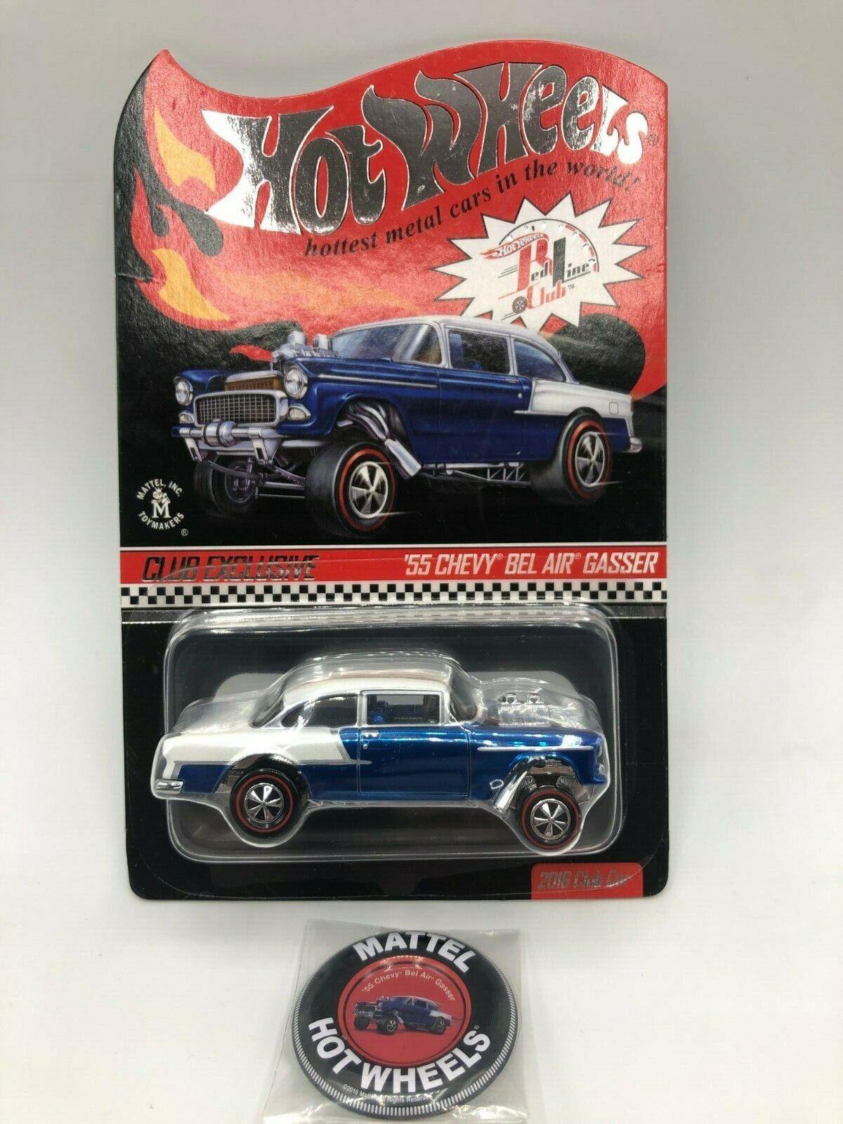 Hot Wheels Club Exclusive 55 Chevy Bel Air  Gasser (bluee White) NIBP Low Number