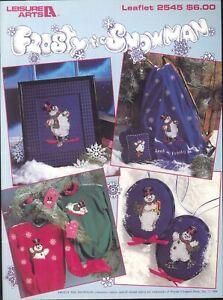 Frosty-The-Snowman-Cross-Stitch-Pattern-Booklet-1994-Leisure-Arts-2545