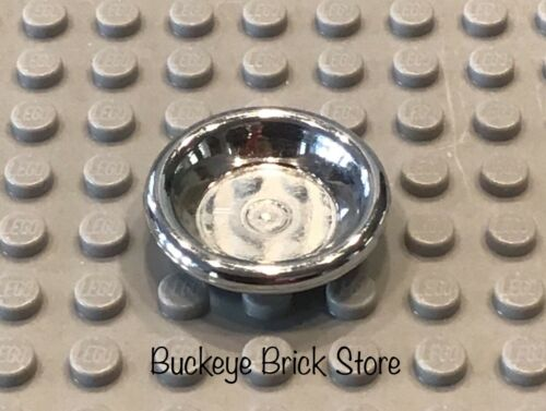 LEGO Lot of One Chrome Silver Bowl Dish Plate 5857 5858 Kitchen Food Doll House