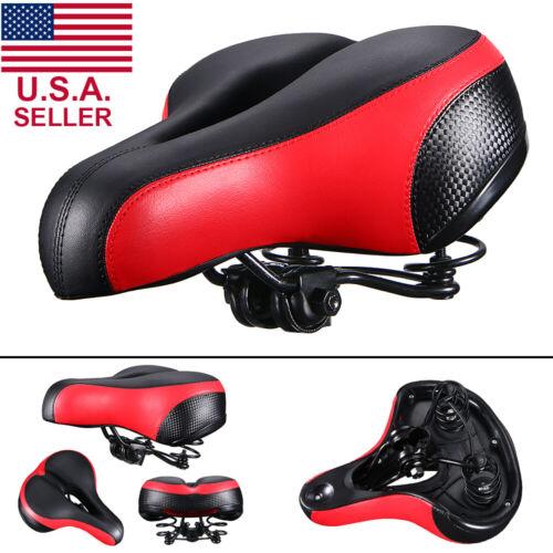 Bike Bicycle Saddle Seat Gel Extra Sporty Foam Soft Pad Comfort Wide Big Bum USA