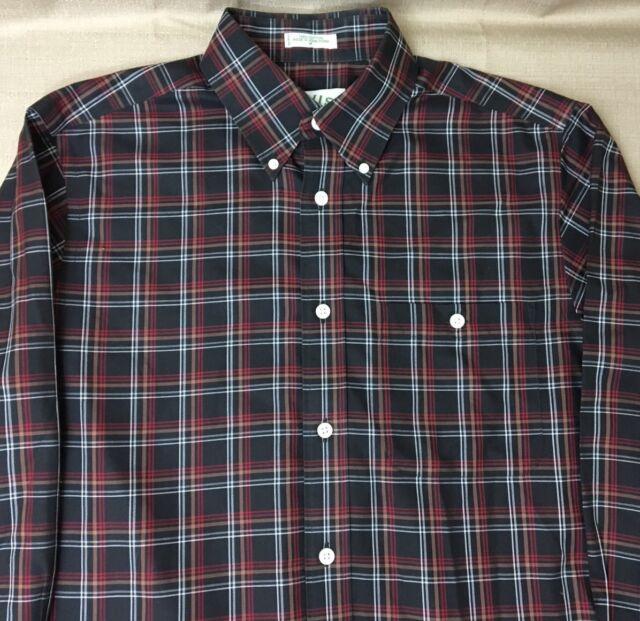 Orvis Long Sleeve Plaid Button Up Dress Shirt Mens M Medium