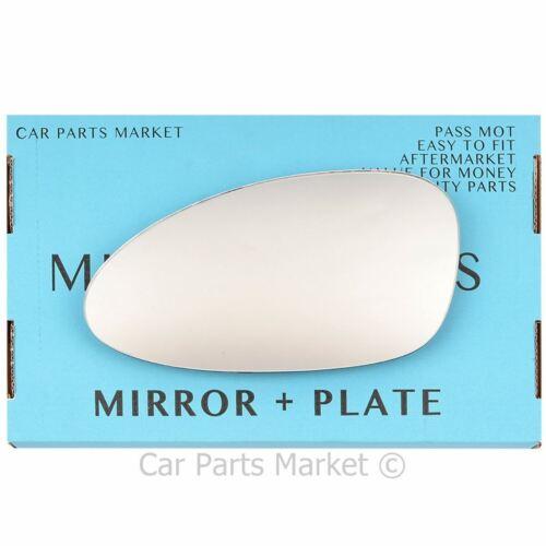 Left Side Wing Door Mirror Glass for Porsche 968 92-95 Plate