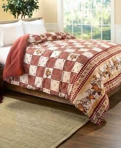 Hearts Stars Full Queen Comforter Linda Spivey Country Primitive Bedroom 1 Pc Ebay