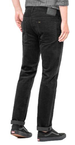Lee Daren Zip Regular Fit Slim Black Cords Stretch Corduroy Jeans Trousers