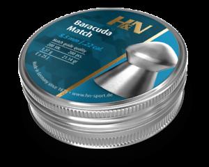 H/&N Baracuda Match .22 Pellet Air Fucile Munizioni Fucile ad Aria Compressa pieno lattine 200 5.51