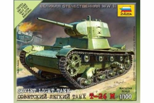 ZVEZDA 6113 1//100 Soviet Light Tank T-26