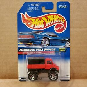 1998 Hot Wheels Mercedes-Benz Unimog #1005 Red And Black ...