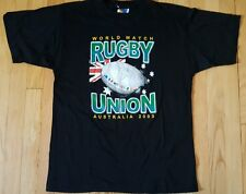 NEW 2003 World Match RUGBY UNION V shirt S black Australia NWOT soccer jersey