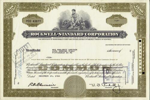 ROCKWELL STANDARD CORPORATION Milwaukee Wisconsin sign Willard J Rockwell