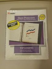 Avery Semi Clear Economy Weight Top Loading Sheet Protectors 100 Pack 74136