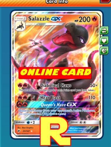 Salazzle GX Regular Art DIGITAL ptcgo in Game Card for Pokemon TCG Online