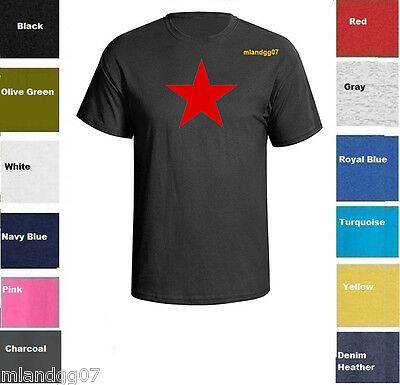 CCCP Soviet Union Socialist Republic Cartoon Russia USSR Red Star Men/'s T-Shirt