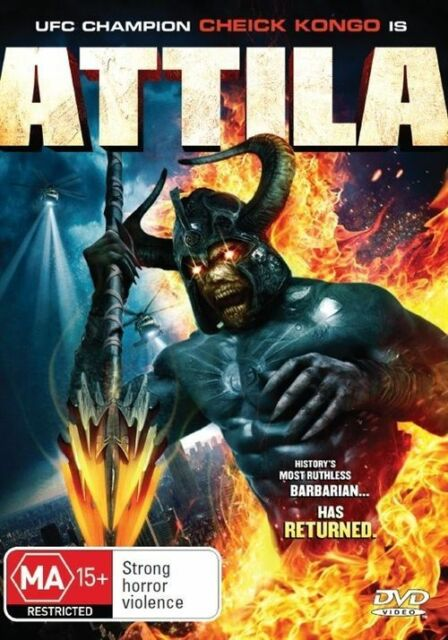 Attila DVD (2013) Cheick Kongo, Chris Conrad RARE MOVIE REGION 4
