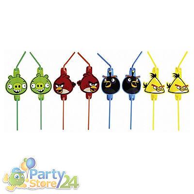 Angry Birds Trinkhalm Kindergeburtstag Geburtstag Party Deko Geburtstagsparty