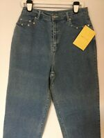 Women Qvc Quacker Factory Light Wash Jeans Snowflake Bead On Trims Sz 16