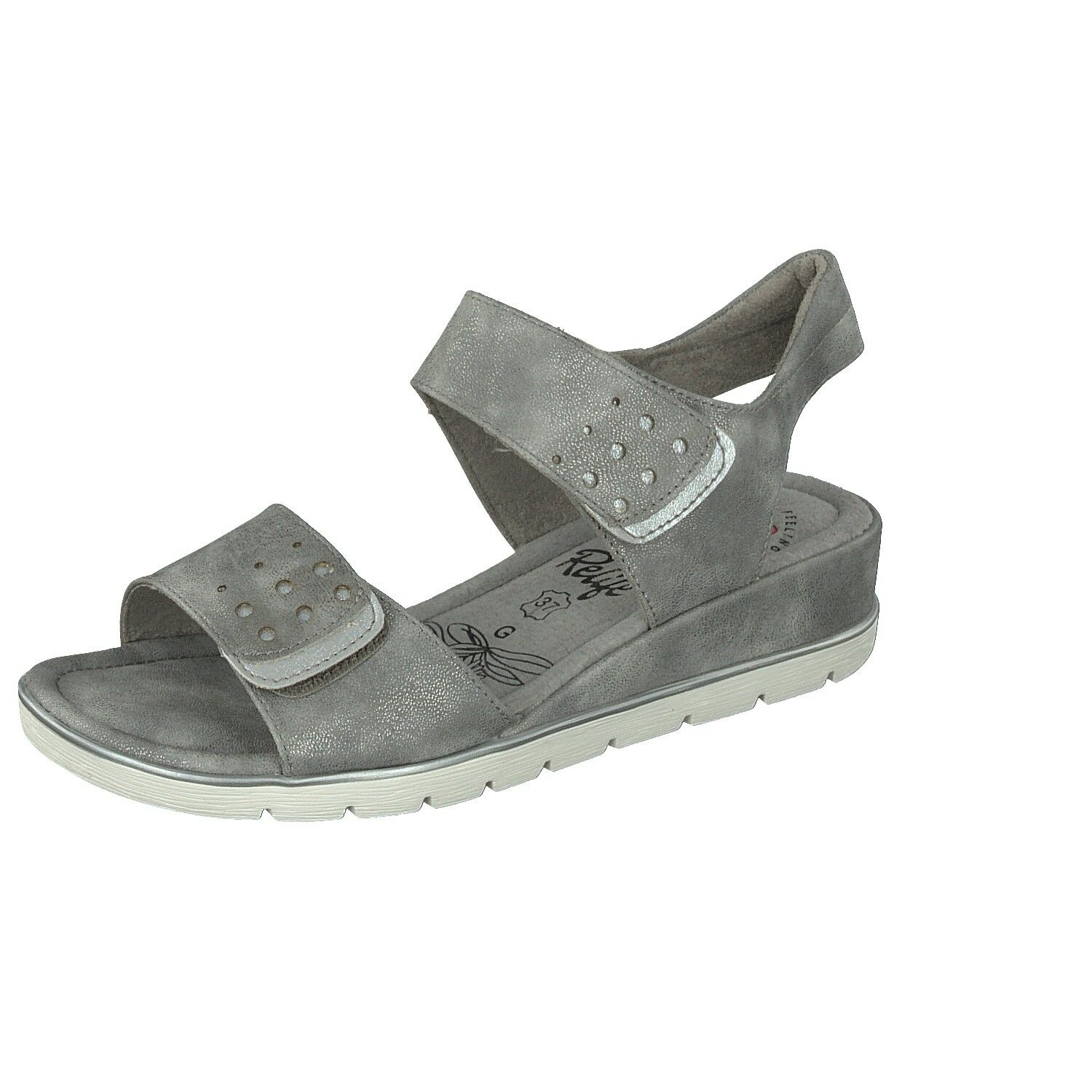 RELIFE Ladies shoes Leisure High-Heeled Sandals 8717-17701-07 Grey with Double
