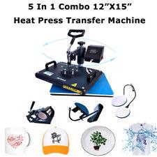 5 In1 T Shirt Printing Machine 12x15 Mugplatehat Hest Press Combo Machine Us