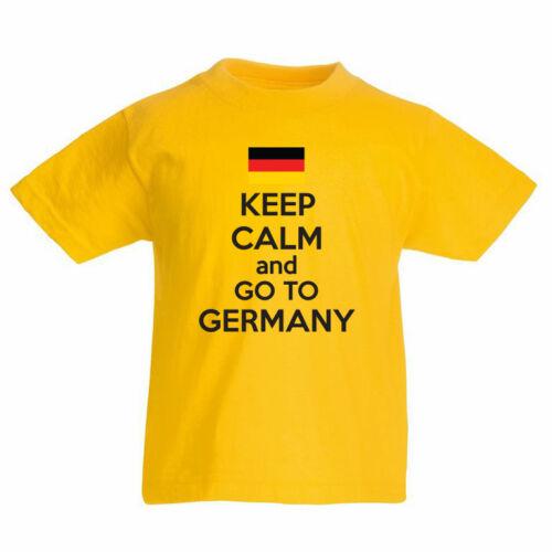 pavillon enfants t-shirt à thème Restez calme et aller à l/'Allemagne Europe allemand