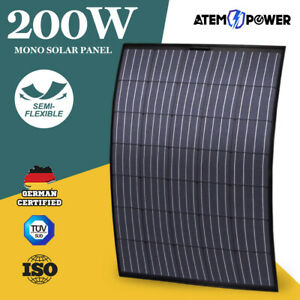 200W 12V Flexible Solar Panel Mono Generator Charge Power Caravan Camping