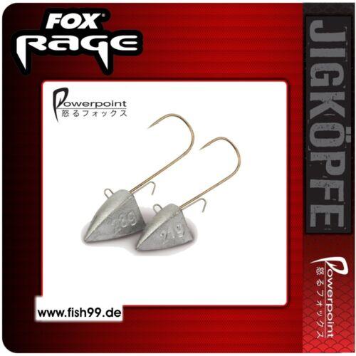 Fox Rage Flutter Jig Head Jighaken Jigkopf  5er Pack 6//0 28g