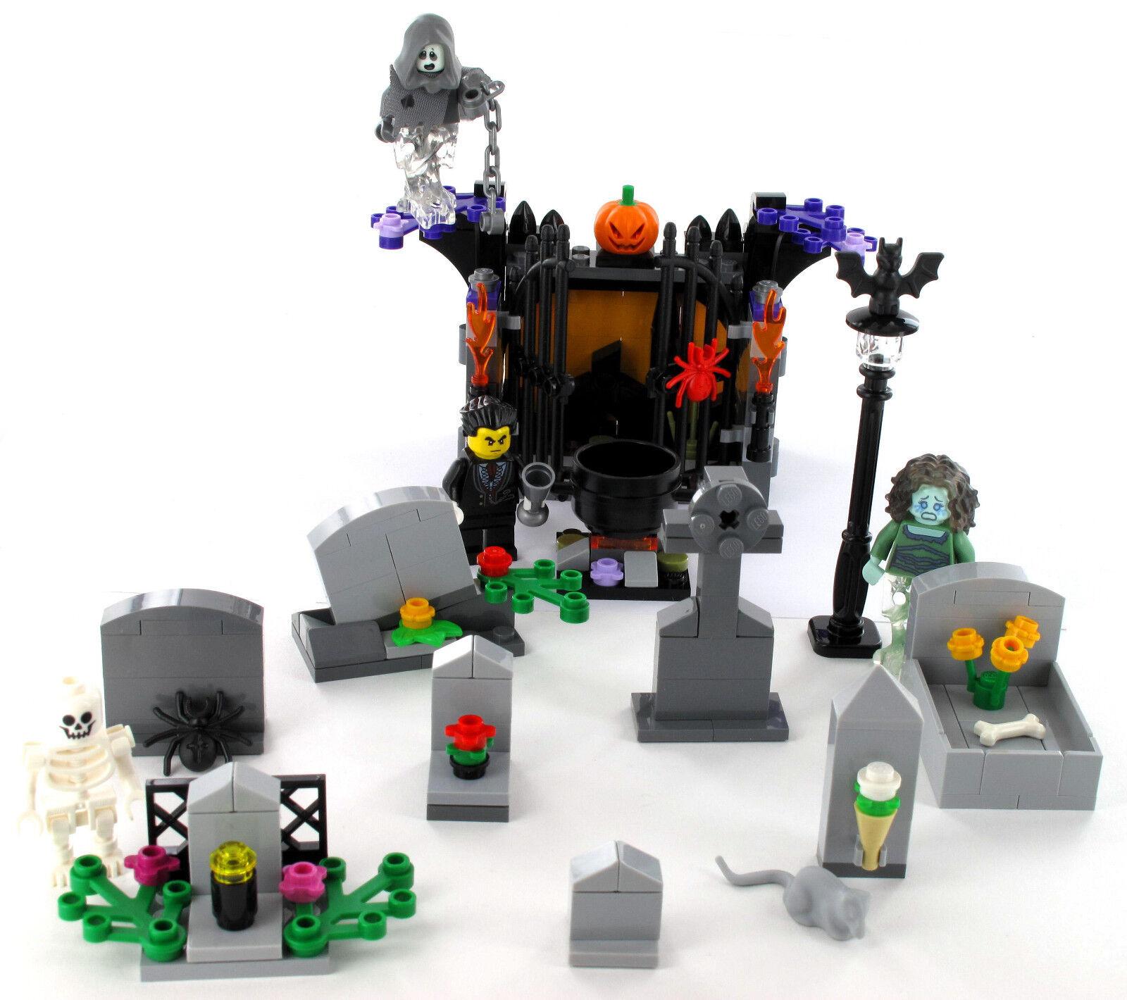 LEGO Friedhof mit Gruft, Grabsteine, Vampir, Skelett, Halloween, Minifigur 71010