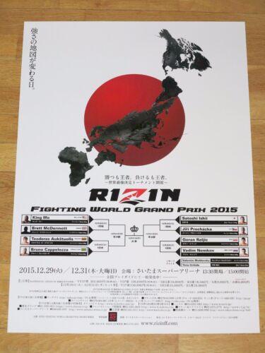 King Mo Fedor Emelianenko Sakuraba UFC Pride FC Mma Rizin 1 Gp Japan Poster