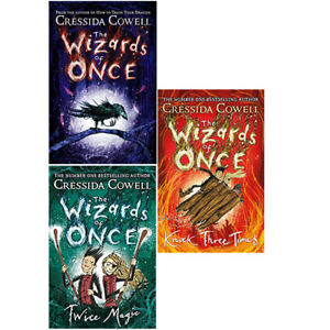 The-Wizards-Of-Once-3-Books-Children-Collection-Paperback-By-Cressida-Cowell