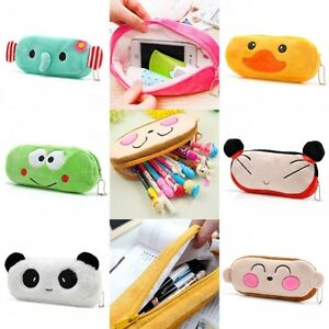 Fashion-Cute-Cartoon-Pencil-Pen-Case-Cosmetic-Makeup-Pouch-Bag-Zipper-Organizer
