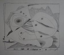 L. ZEILINGER  (1897/1990)  Crayon - COMPOSITION LYRIQUE  - 1969 - Signé