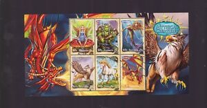 2011-MYTHICAL-CREATURES-stamp-Minisheet-5-x-60-cent-amp-1-x-1-20