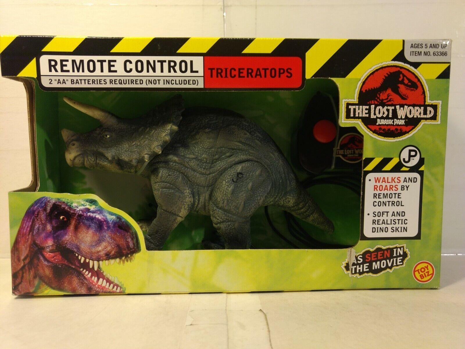 Juguete Biz Jurassic Park The Lost World Mando a Distancia Triceratops 1997