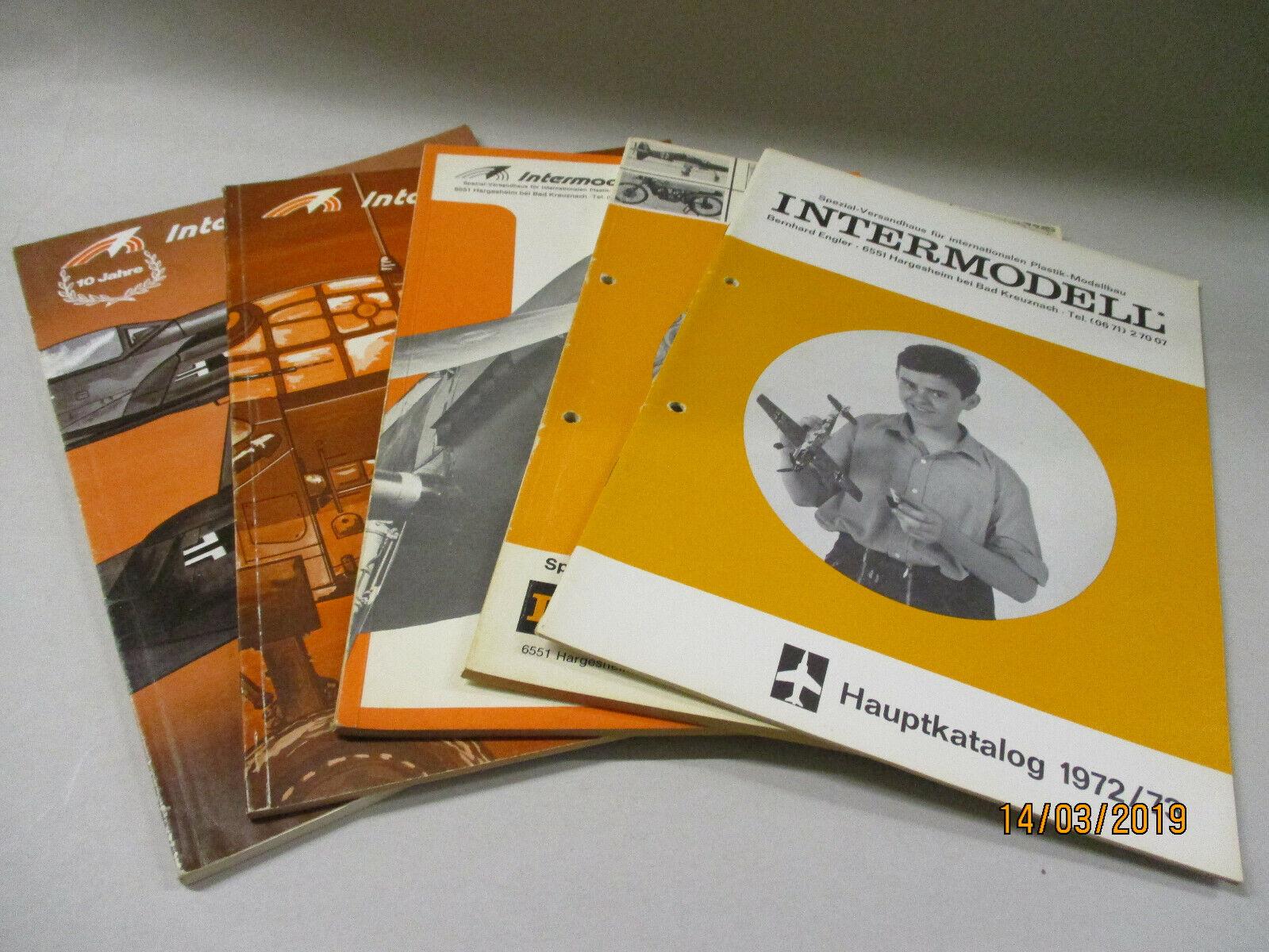 5x intermodell model kits catalogue 1972 73 1973 74 1975 1976 77 1977 78