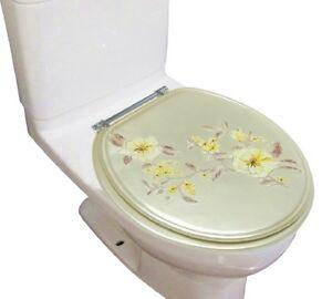 Heavy Duty Decorative Round Toilet Seat Round 17 Inch Seat Melarose Yellow Ebay