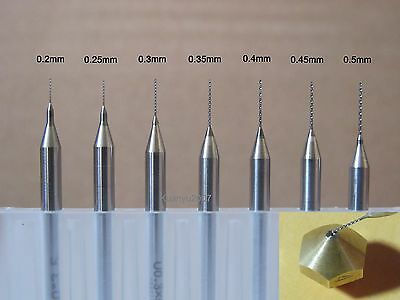 0.2mm to 0.5mm(7 Sizes) Drill Bits for 3D Printer Nozzle Cleaning Kit