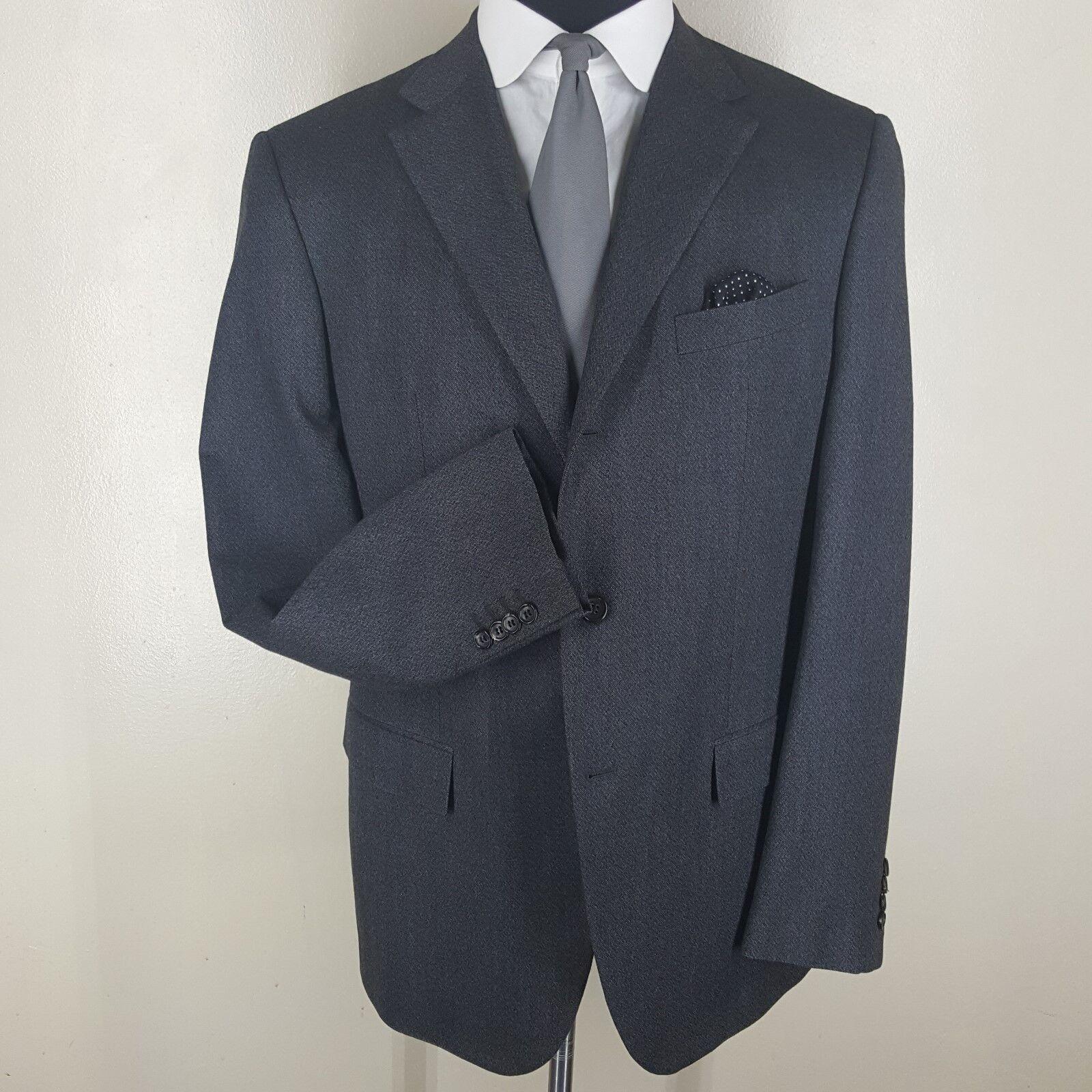 JIL SANDER 'Tailor Made Line' Suit 3 Btn  Center Vent 100% Wolle  U.S. Größe 44 L