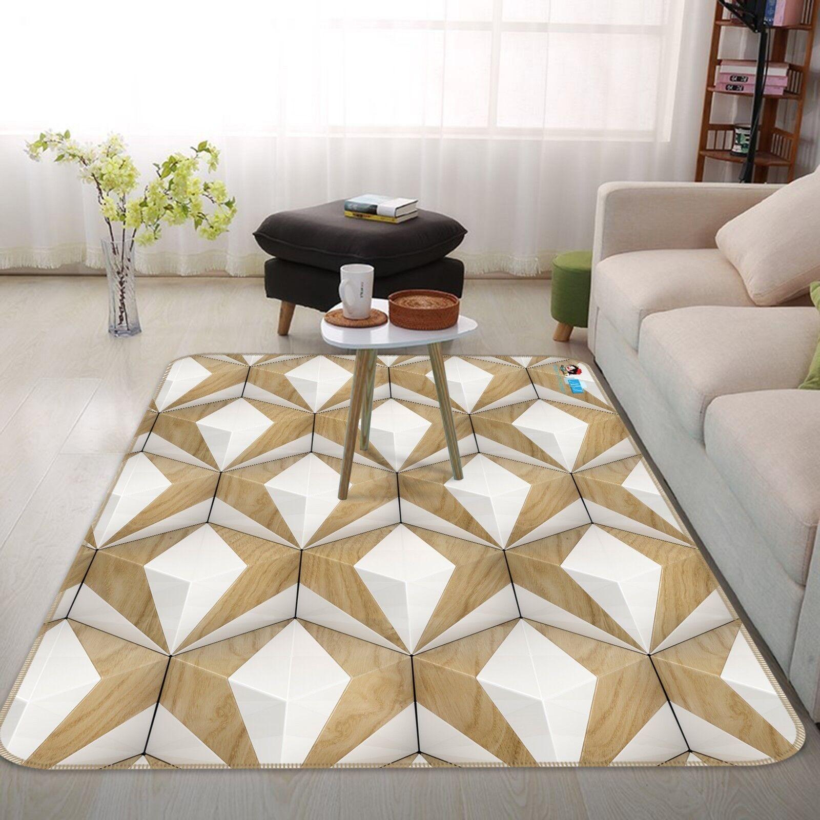 Geometria 3d cubo 2 antiscivolo tappeto bagagliaio Qualità Tappeto Elegante De