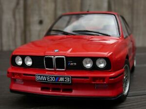 Solido-1-18-Red-Diecast-Juguete-BMW-M3-E30-1990-modelo-de-coche-M-Power-Turing-campeon