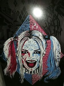 Suicide squad harley quinn tattoo face dc comics sticker for Suicide squad face tattoo