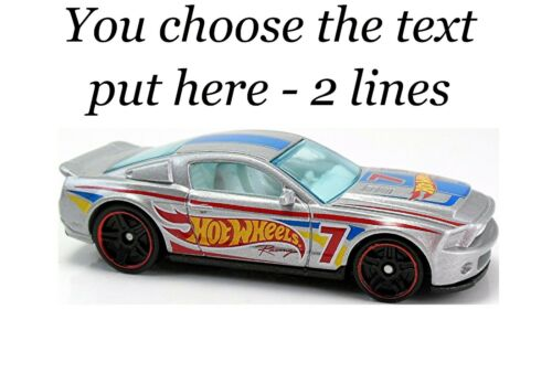 24 Mixed Hot Wheels Cars Large Sticky White Paper Stickers Labels NEW