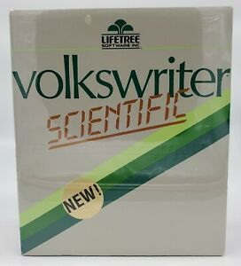 LIFETREE: 1984 Volkswriter Scientific Word Processor Software for IBM Sealed NOS