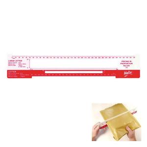 Helix Plastik Mail Post Kostenlos Schablone Measuring Lineal 10er