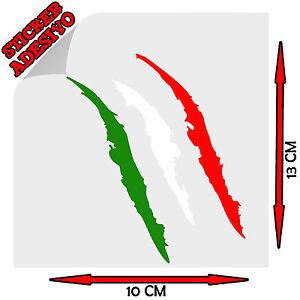 Sticker-Adesivo-Decal-Graffio-Graffi-Artigli-Artiglio-Claw-Tricolore-Italia