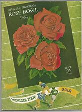 1954 Michigan State MSU UCLA Rose Bowl football program Biggie Munn