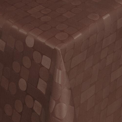 Tischdecke aus Wachstuch abwaschbar Länge wählbar Mosaik Design Braun 313-02