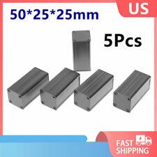 5pcs Black Extruded Aluminum Electronic Project Box Enclosure Case 502525mm