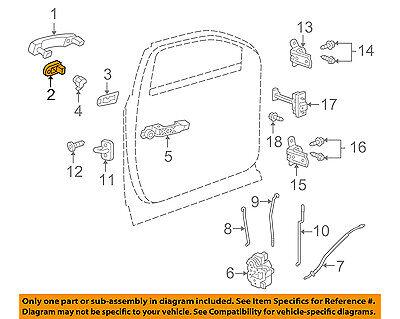GM OEM REAR DOOR-Lock Assembly 13598381