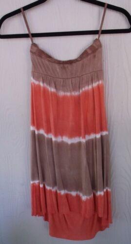 Womens T Party Tie Dye Summer Tube Top Dress Nice Outdoor Wear Sizes S M