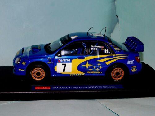 Subaru Impreza WRC #7 AUSTRALIA 2003 P.Solberg/P.Mills 4365 SUN STAR 1/18